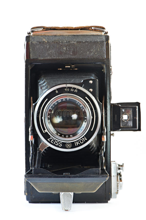 Free Old Retro Camera Front View Royalty Free Stock Images - 39353759