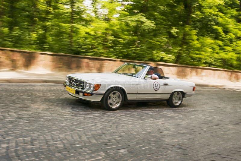 Old retro car  Mercedes- Benz SL 450 stock images