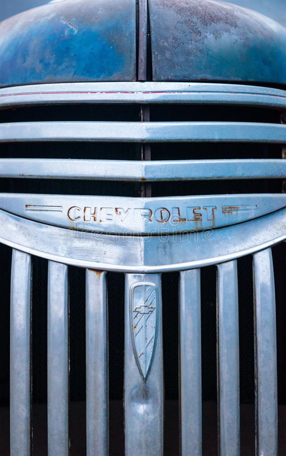 Old Retro Chevy Truck Grille royalty free stock image