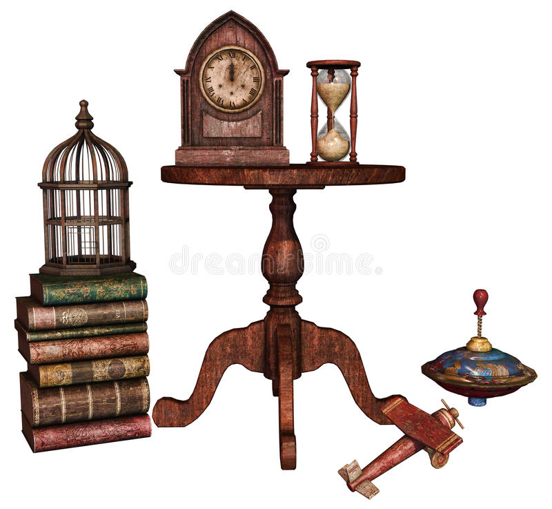 Old retro objects stock illustration