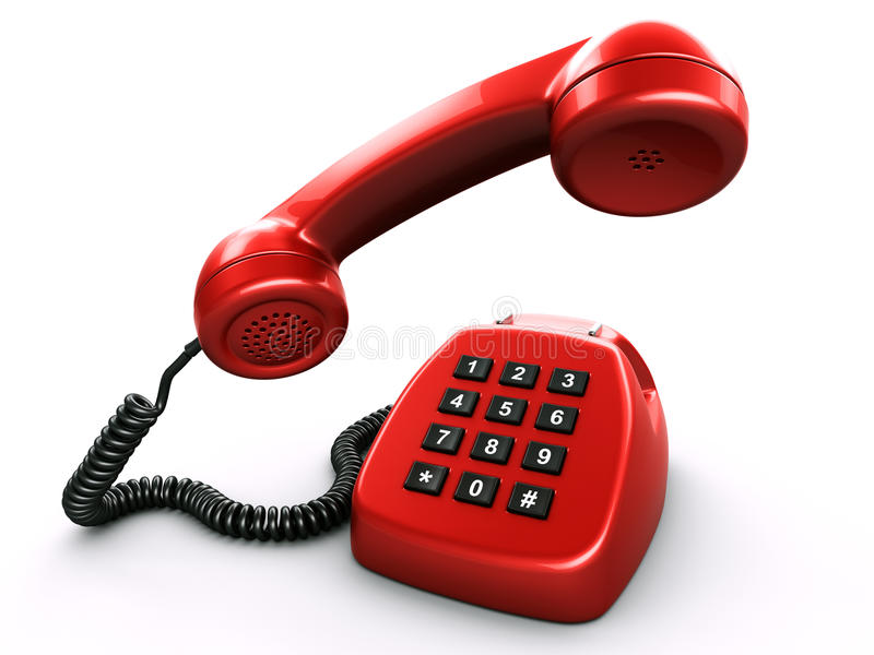 Old retro phone with a digital numpad royalty free illustration