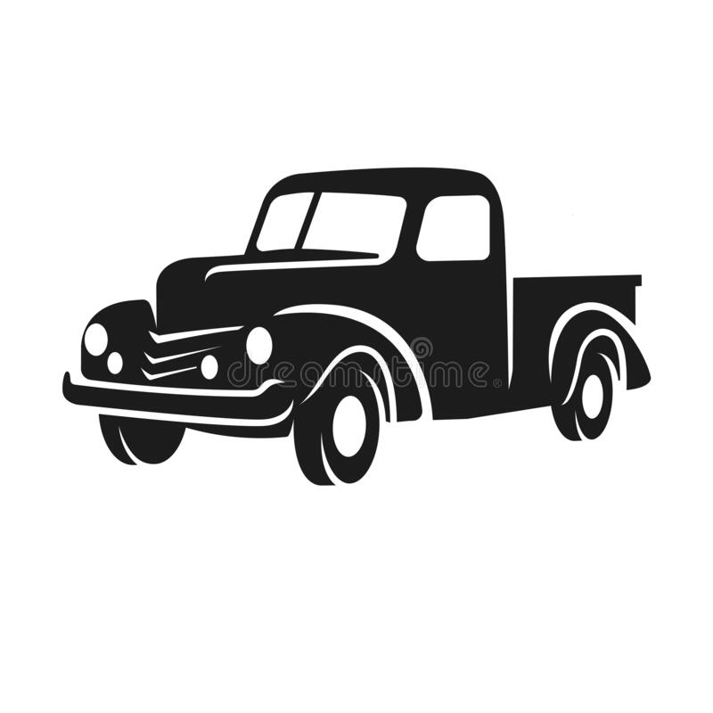 Free Old Retro Pickup Truck Vector Illustration. Vintage Transport Vehicle Stock Photos - 177758313