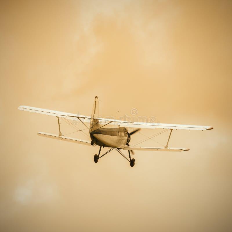 Old retro plane. royalty free stock photo
