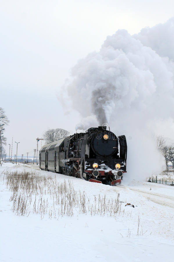 Download Old retro steam train stock image. Image of nobody, outside - 13133999
