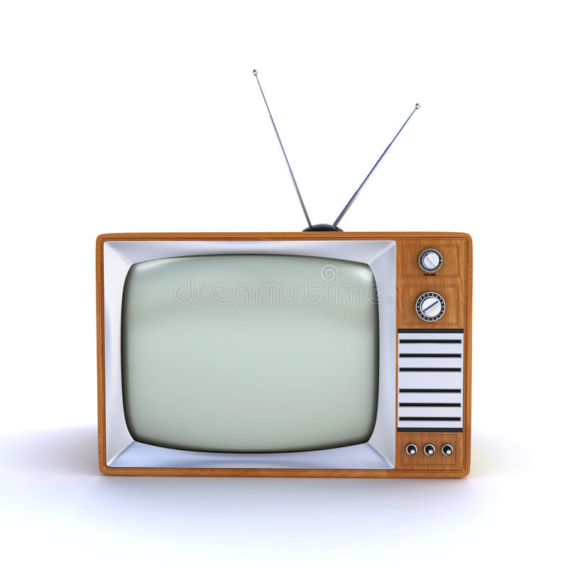 Download Old retro TV stock illustration. Illustration of render - 32875085