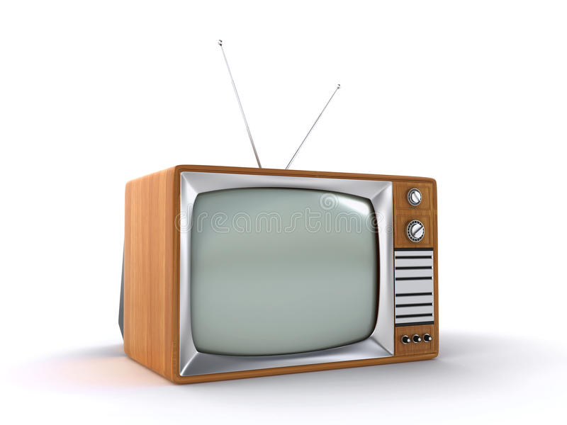 Download Old retro TV stock illustration. Image of retro, antique - 33050586