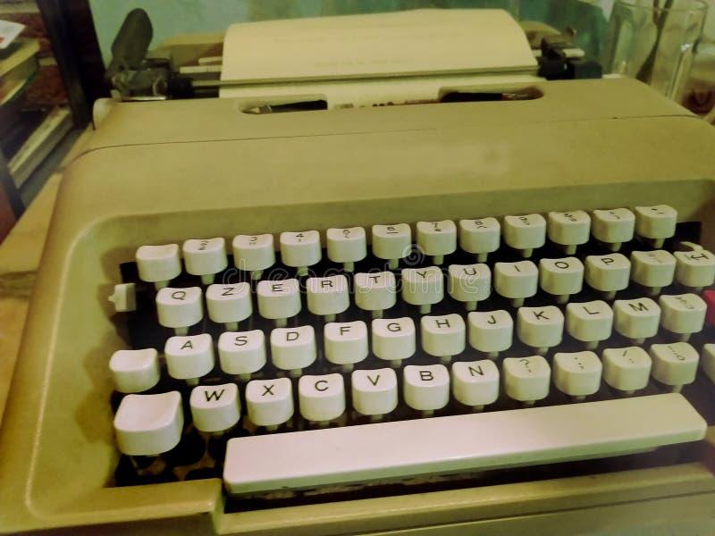 Old retro typewriter, writing machine - old photo, vintage style effect stock image