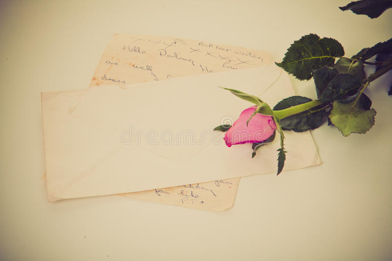 Love letter stock photography