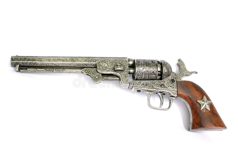 Old Revolver stock photography