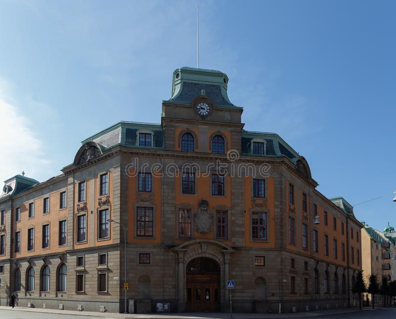 Old Ricksbank House in Uppsala. Uppsala. Sweden. 08.2019. Old Ricksbank House in Uppsala. Uppsala. Sweden. Summer royalty free stock images