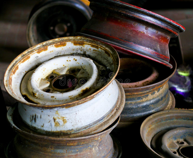 Download Old rims stock image. Image of rust, tires, stack, balance - 11044381