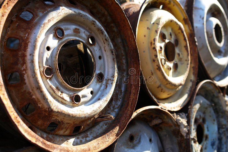 Download Old Rims stock photo. Image of circle, junk, auto, transport - 4608836