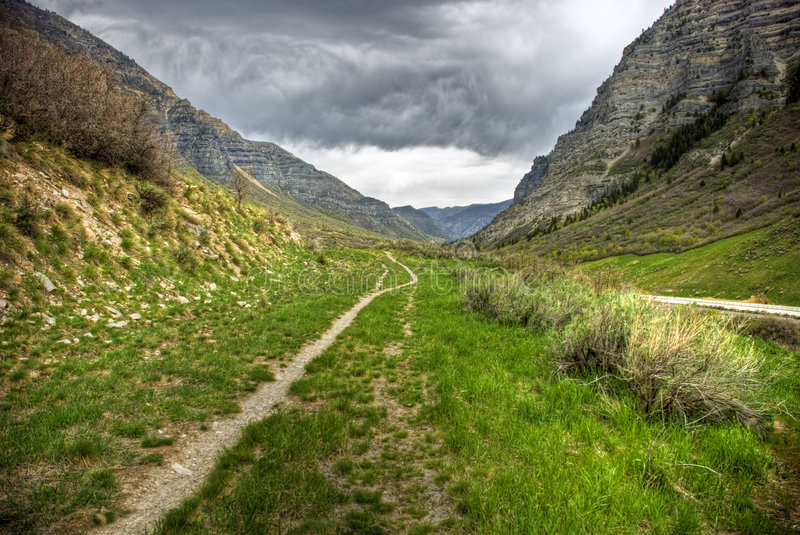 The Old Road to Nowhere stock photography