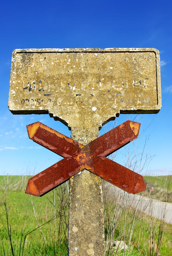 Old roadsign at Portugal. royalty free stock images