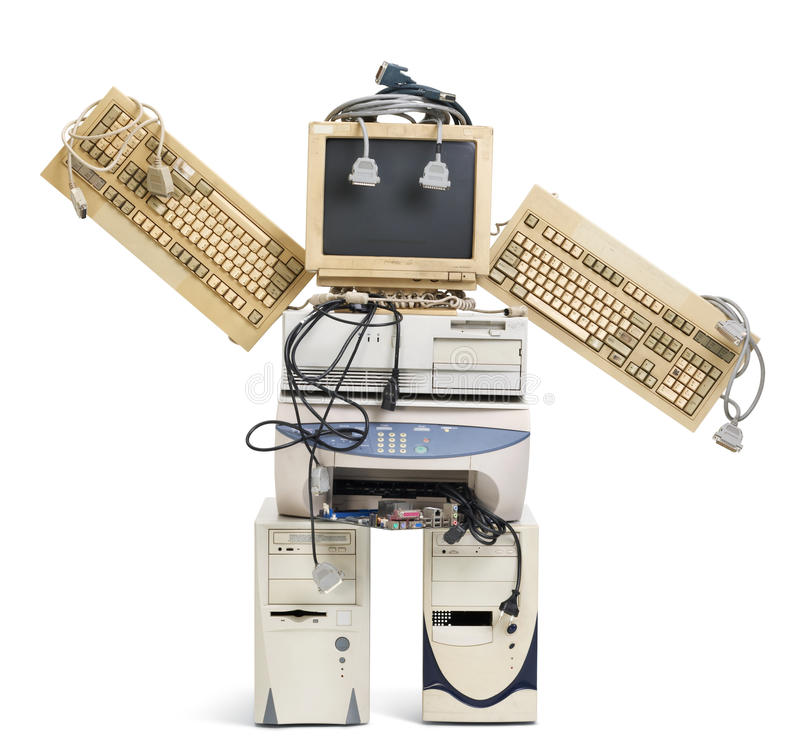 Old Robot Royalty Free Stock Photography