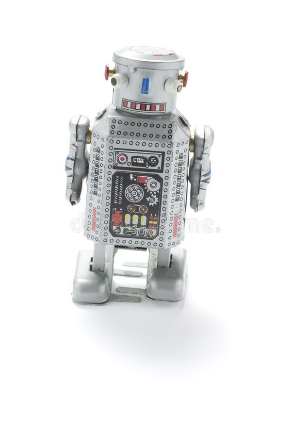 Old Robot Toy royalty free stock photography