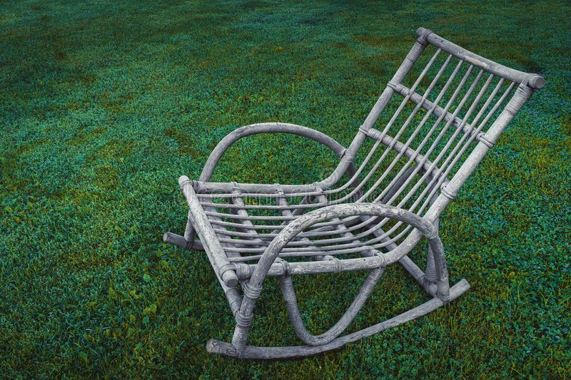 Old rocking chair royalty free stock photography