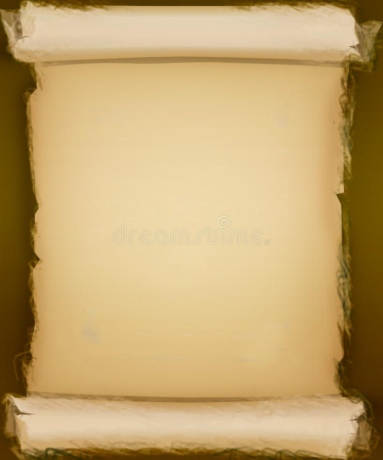 Old rolled parchment paper background