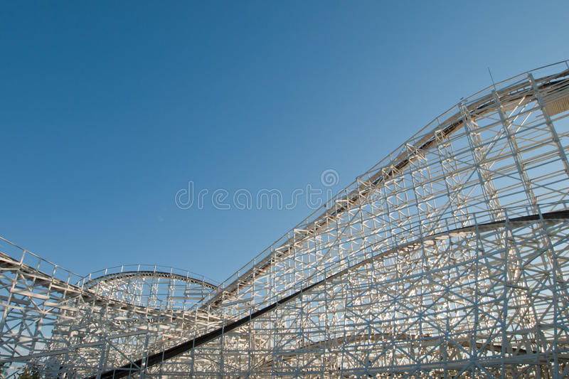 Old Rollercoaster royalty free stock photos