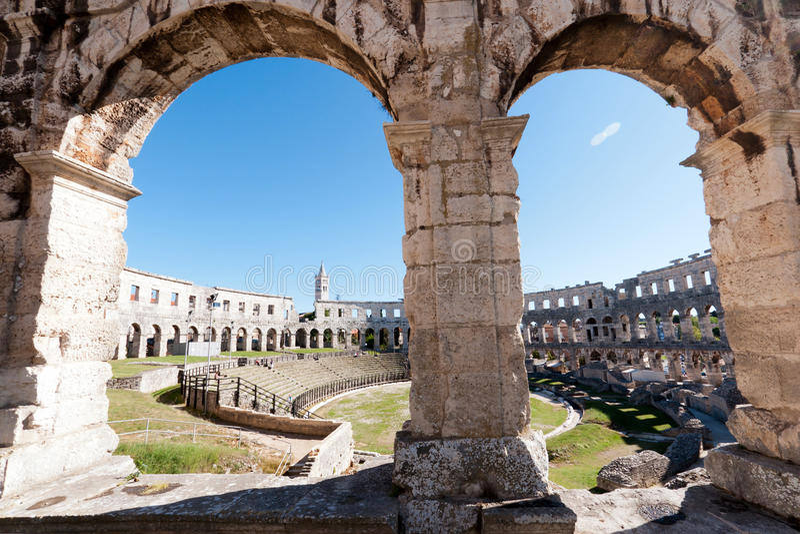 Old Roman Coliseum Stock Photography