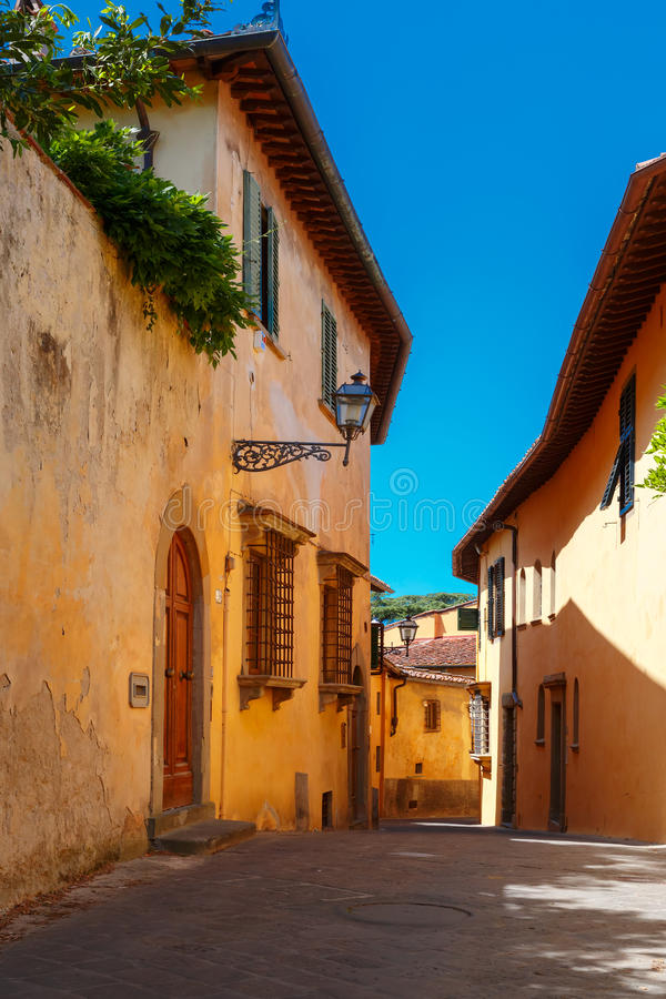 Old roman street in Florence, Tuscany, Italy stock image