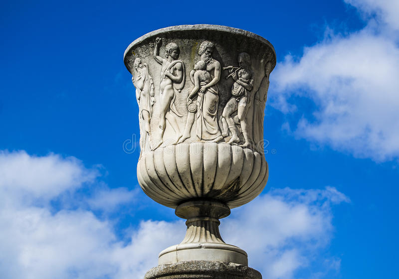 Old Roman Vase. This is an old roman vase, found in front of the Leaning Tower of Pisa stock images