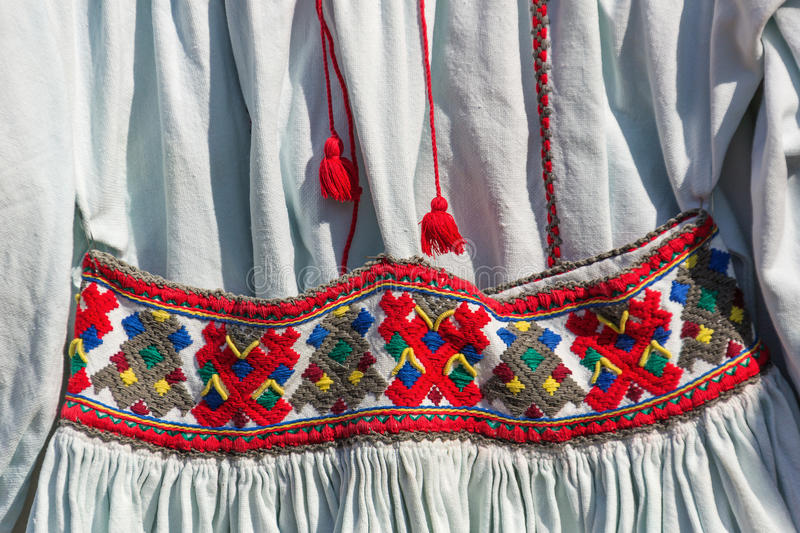 Old Romanian traditional costume stock photography