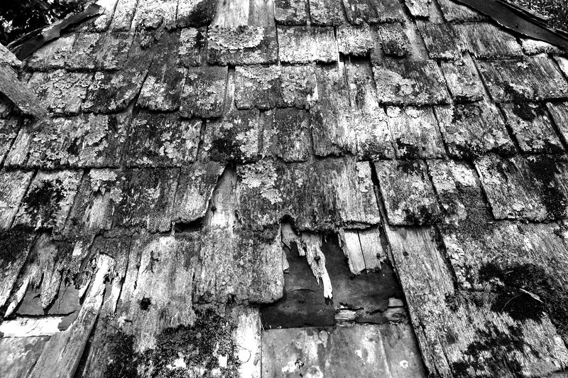 Download Old Roof - Black and White stock photo. Image of beat, dirty - 878774