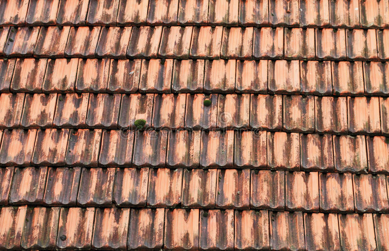 Old roof tile stock image