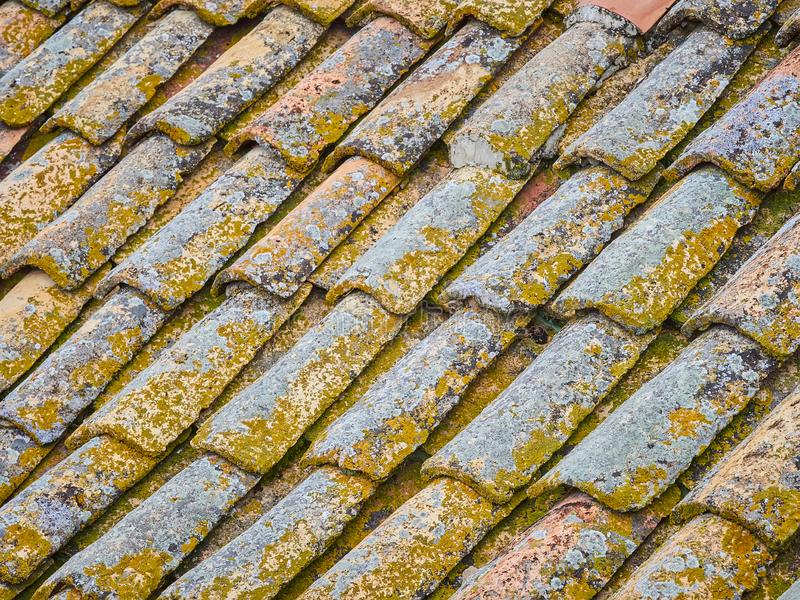 Old roof tiles royalty free stock photos