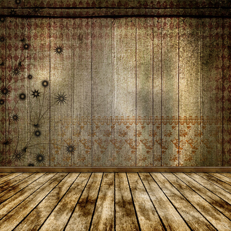 The old room. stock illustration