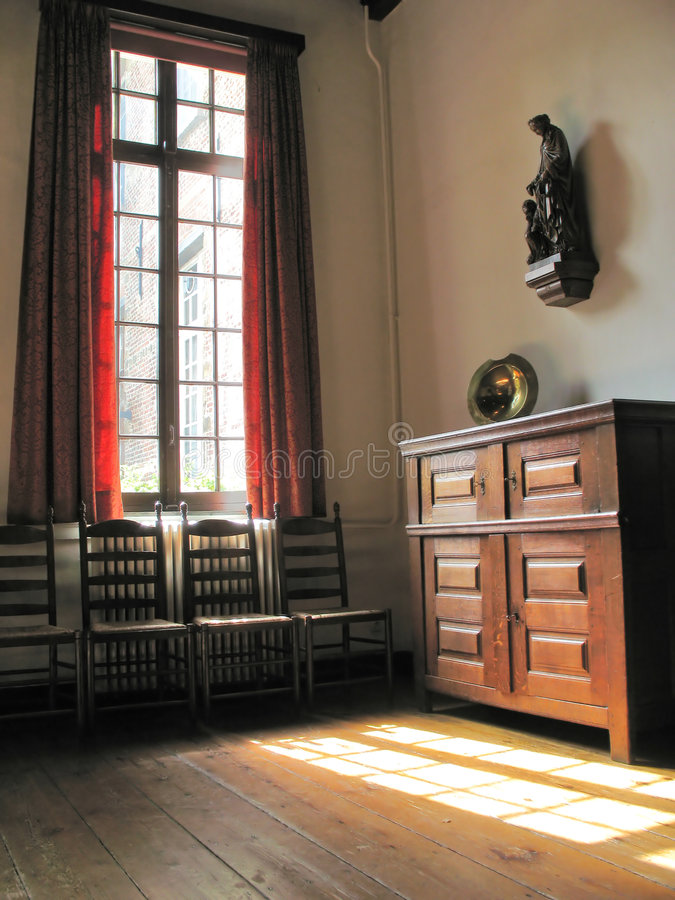 Old room. Old living room in a cloister royalty free stock photo