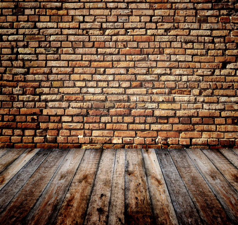 Old room with brick wall royalty free illustration