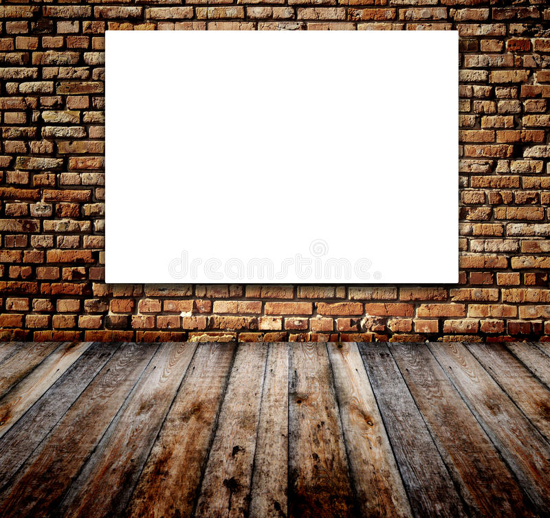 Download Old room with brick wall stock illustration. Image of indoor - 27638278