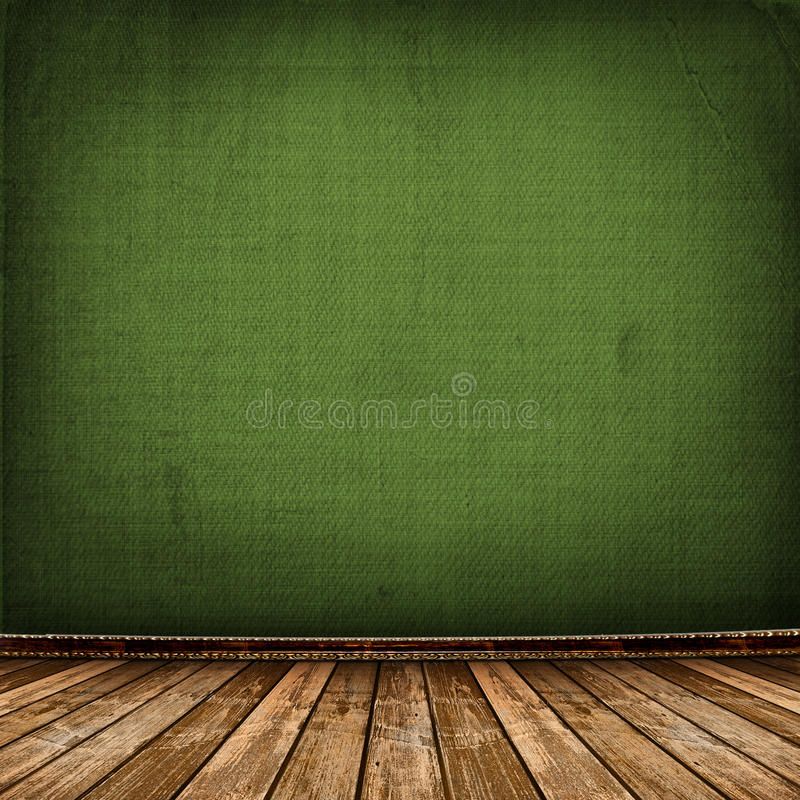 Old room with worn wallpaper royalty free stock images