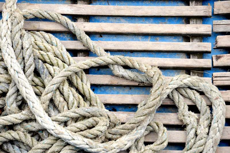 Download Old rope stock image. Image of bound, line, knot, rope - 34444841