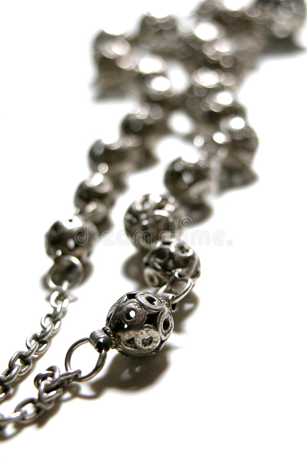 Download Old Rosarie beads stock photo. Image of silver, religion - 27540