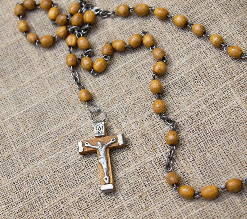 Download Old Rosary With Wooden Beads, 2 Stock Photo - Image: 31151668