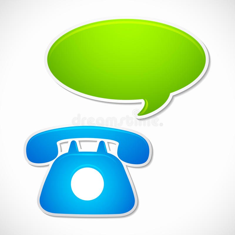 Old Rotary Phone with Chat Bubble royalty free illustration