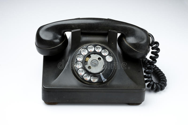 Download Old rotary telephone stock image. Image of past, letters - 14857347