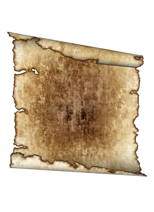 Download Old Rough Antique Parchment Paper Scroll, Texture Royalty Free Stock Photography - Image: 9786147