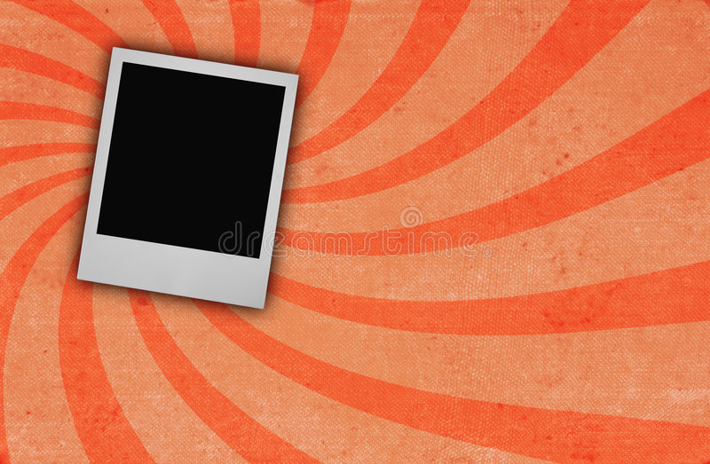 Old ROUGH paper page with photo frame royalty free stock photography