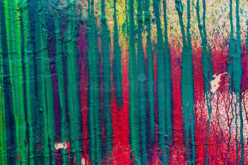 Wall with smudges of multi-colored paint royalty free stock images