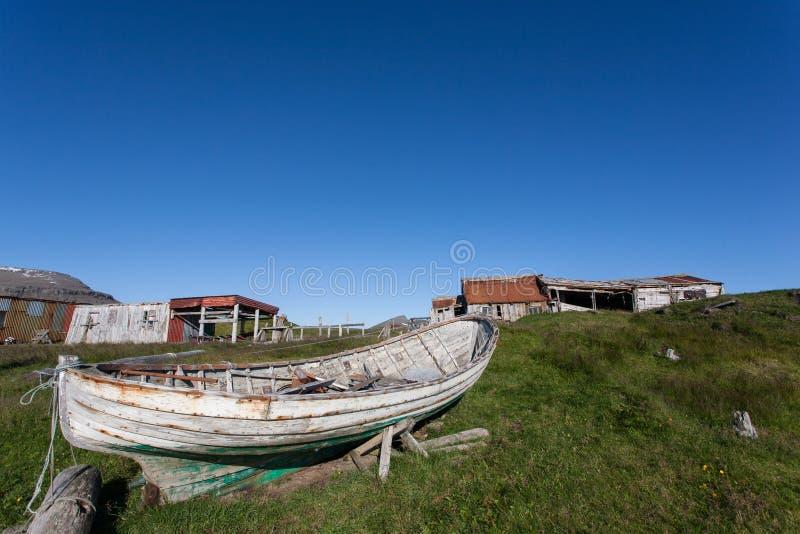 Old rowboat royalty free stock image