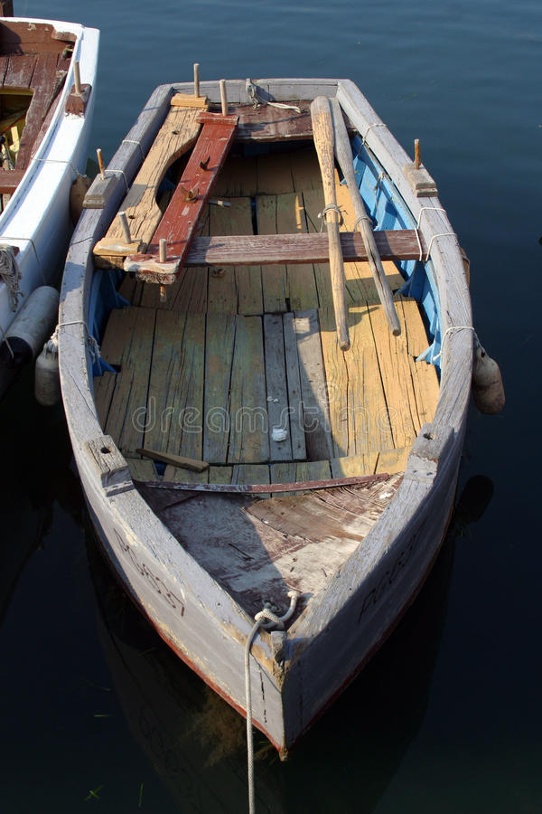 Old rowing boat stock image