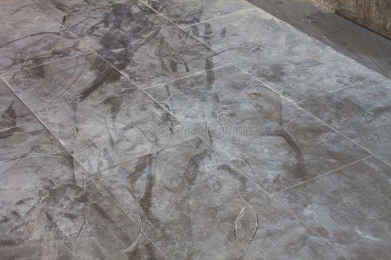 Old Rubber Tile Floor Background Stock Image Image Of Concrete