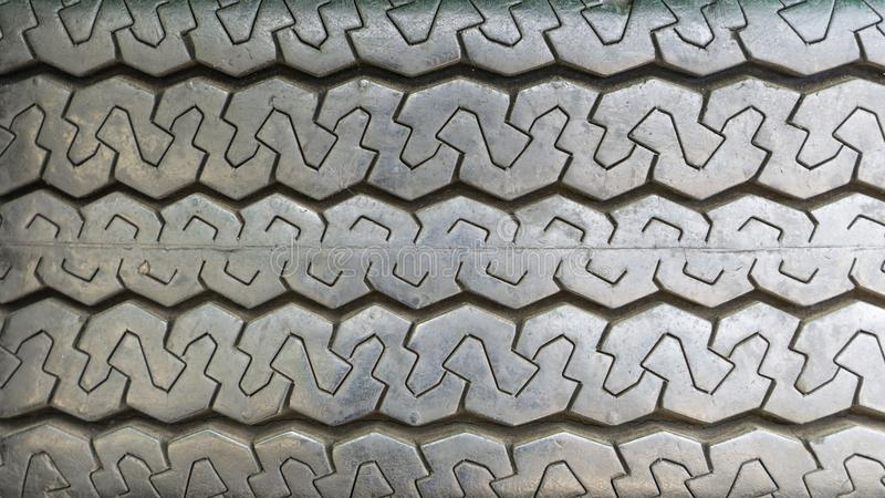 Old rubber truck tires texture. royalty free stock image