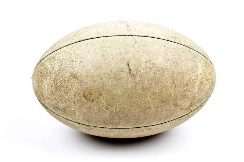 Old rugby ball royalty free stock photos
