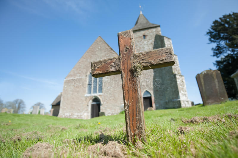 Old rugged cross royalty free stock photo