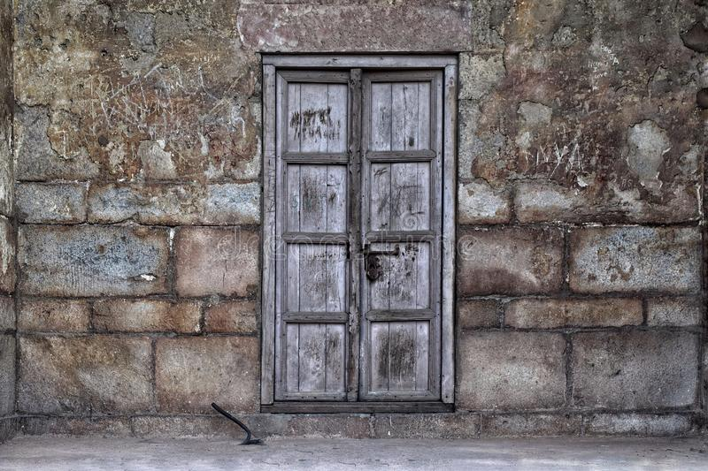 Old rugged door royalty free stock photo